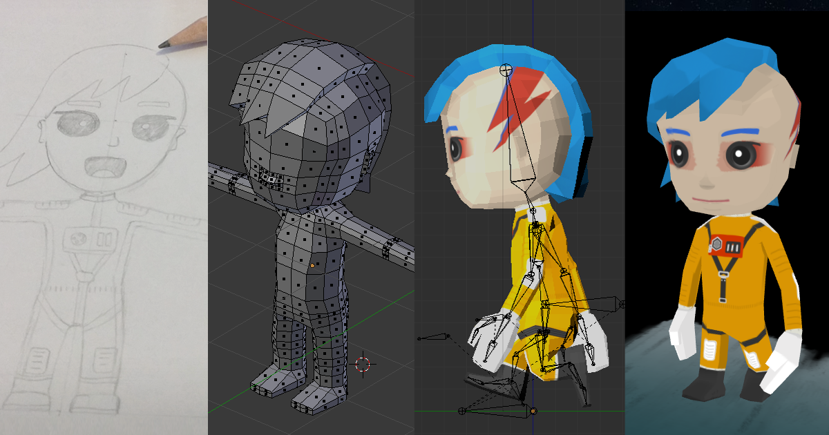 Blender Character Modeling Workflow : Unboring workflow animation from blender to three js